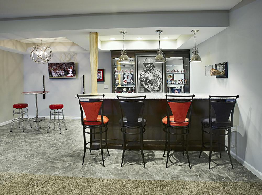 Johnson Basement St Louis Cardinals Baseball Theme From Fulford Home Remodeling